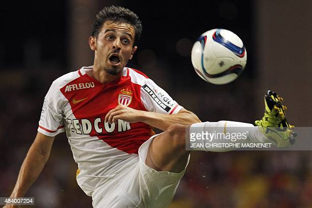Monaco's Portuguese midfielder Silva Bernardo controls the ball during French L1 football match between Monaco and Lille on August 14 at the Louis II...