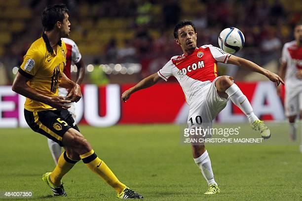 Monaco's Portuguese midfielder Silva Bernardo vies with Lille's Argentinian defender Renato Civelli during French L1 football match between Monaco...