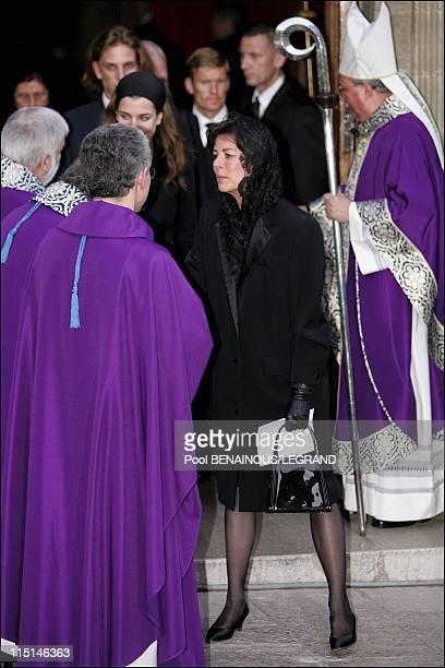 Monaco's royal family attend memorial service for Pope John Paul II at Monaco cathedral in Monaco City Monaco on April 06 2005 Charlotte Casiraghi...