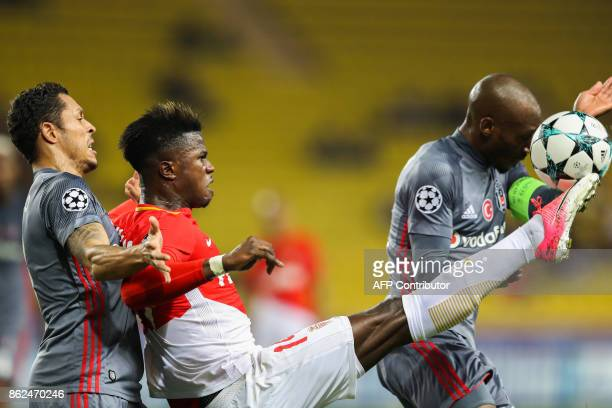 Monaco's Senegalese forward Keita Balde kicks the ball during the UEFA Champions League group stage football match between Monaco and Besiktas on...