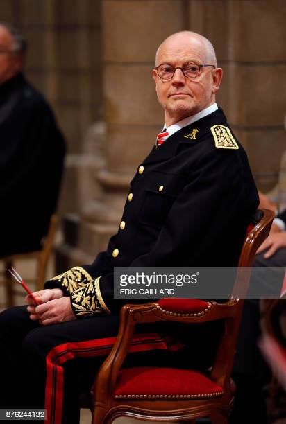 Monaco's State Minister Serge Telle attends a mass at the Saint Nicholas cathedral during the celebrations marking Monaco's National Day on November...