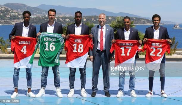 Monaco's Swiss defender Terence Kongolo Monaco's Swiss goalkeeper Diego Benaglio Monaco's French midfielder Souahilo Meite Monaco's Russian vice club...