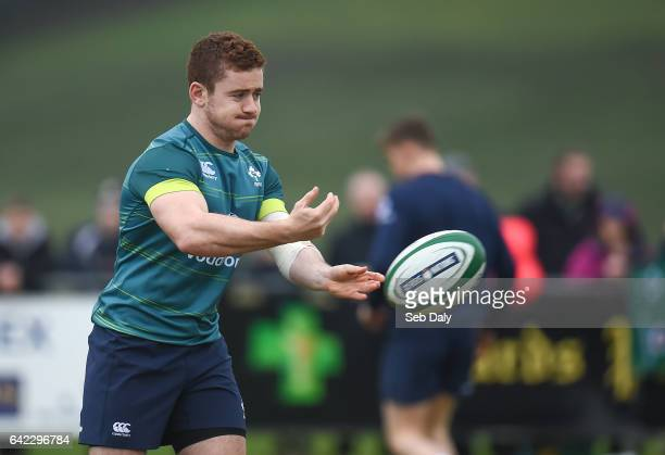 Monaghan Ireland 17 February 2017 Paddy Jackson of Ireland during an open training session at the Monaghan RFC grounds in Co Monaghan