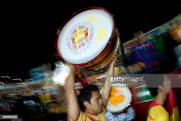 Monarcas Morelia fans during their semifinals match against Cruz Azul as part of the 2009 Opening tournament in the Mexican Football League at the...