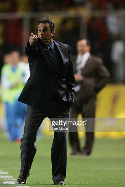 Monarcas Morelia head coach Tomas Boy during their semifinals match against Cruz Azul as part of the 2009 Opening tournament in the Mexican Football...