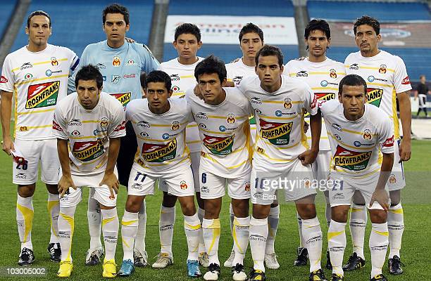 Monarcas Morelia pose for a picture before their game against the New England Revolution during the SuperLiga 2010 on July 20 2010 at Gillette...