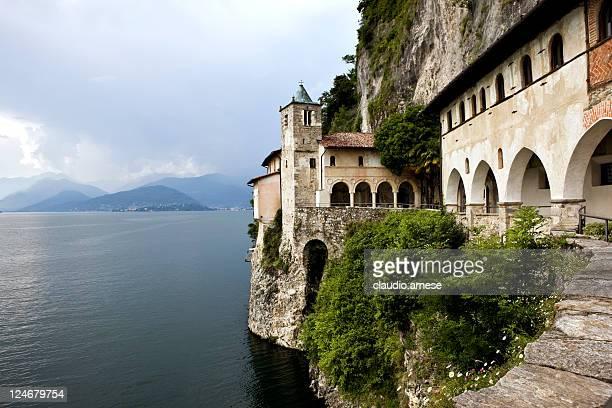 Monastery Lake. Santa Caterina del Sasso. Color Image