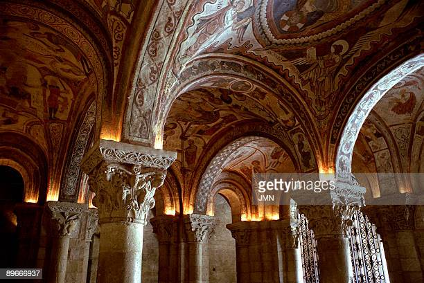 Monastery of San Isidoro Leon Panteon Real Romanesque paintings in the vault Romanesque art