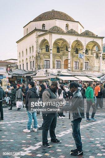 Monastiraki, Athens - Urban Scene : Stock Photo