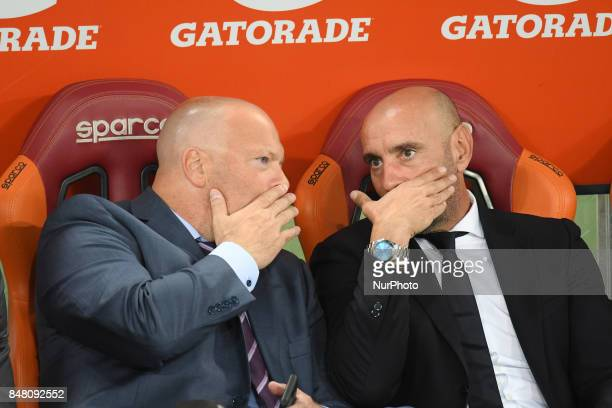 Monchi Alex Zecca during the Italian Serie A football match between AS Roma and FC Hellas Verona at the Olympic Stadium in Rome on september 16 2017