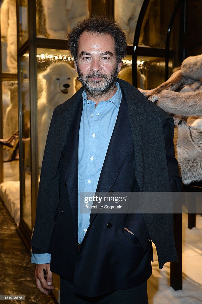 Moncler's president Remo Ruffini attends the cocktail for the Moncler New Flagship Opening in Paris at Rue Du Faubourg Saint-Honore on September 26, 2013 in Paris, France.