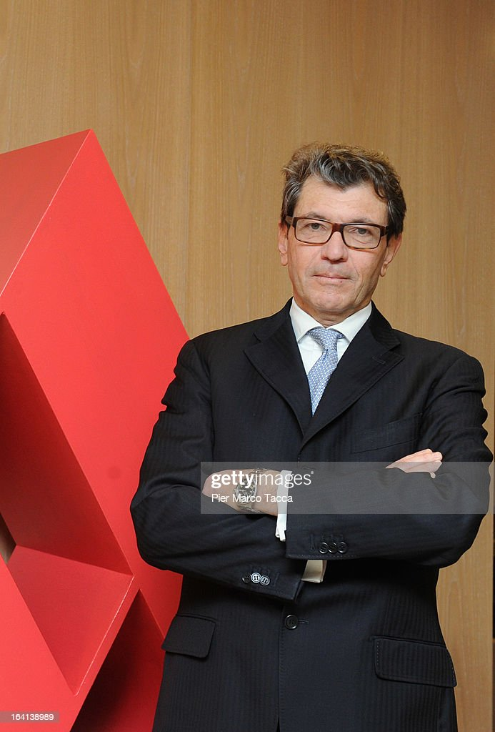 Mondadori Financial Manager Carlo Maria Vismara attends a press conference to announce the publishing company's annual report for 2012 at head office on March 20, 2013 in Segrate, Italy. A meeting of the Board of Directors approved the appointment of Ernesto Mauri as CEO, following Maurizio Costa's resignation in February 2013. Net consolidated revenues to December 31, 2012, were announced at Euros 1.416,1 million; down 6% per cent in comparison to Euro 1,507.2 million in 2011.