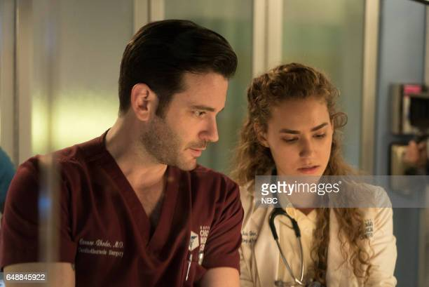 MED 'Monday Mourning' Episode 217 Pictured Colin Donnell as Connor Rhodes Rachel DiPillo as Sarah Reese