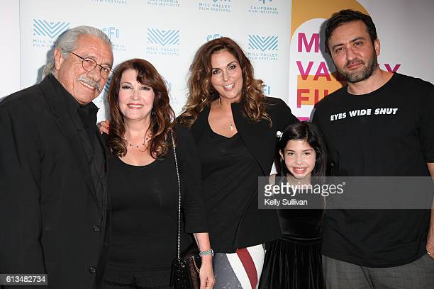 'Monday Nights at Seven' actors Edward James Olmos Mary Apick producer Laura Keys actor Kelea Skelton and actor/director Marty Sader pose for photos...