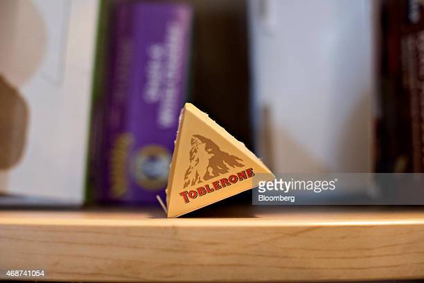 Mondelez International Inc Toblerone brand chocolate is displayed for a photograph in Tiskilwa Illinois US on Wednesday April 1 2015 The looming...