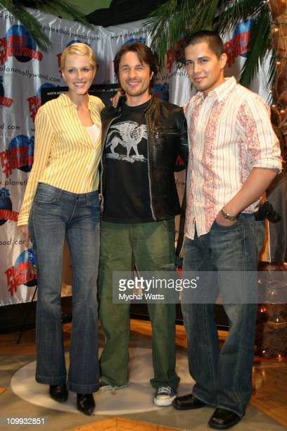 Monet Mazur Martin Henderson and Jay Hernandez during Martin Henderson Jay Hernandez and Monet Mazur from the film Torque Make a Special Appearance...