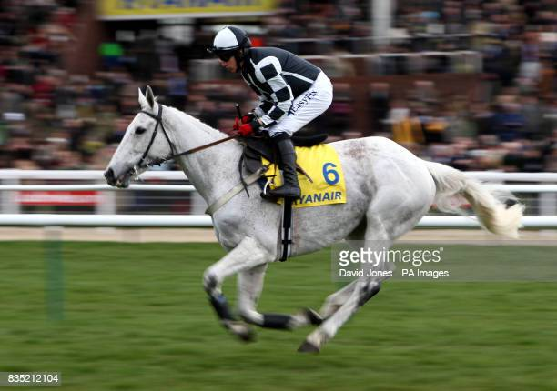 Monet's Garden ridden by Davy Condon in the Ryanair Steeple Chase at Cheltenham Racecourse Cheltenham