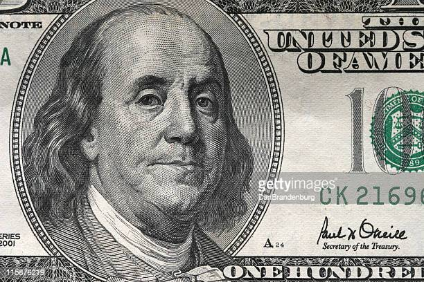 Money $100 Bill Closeup