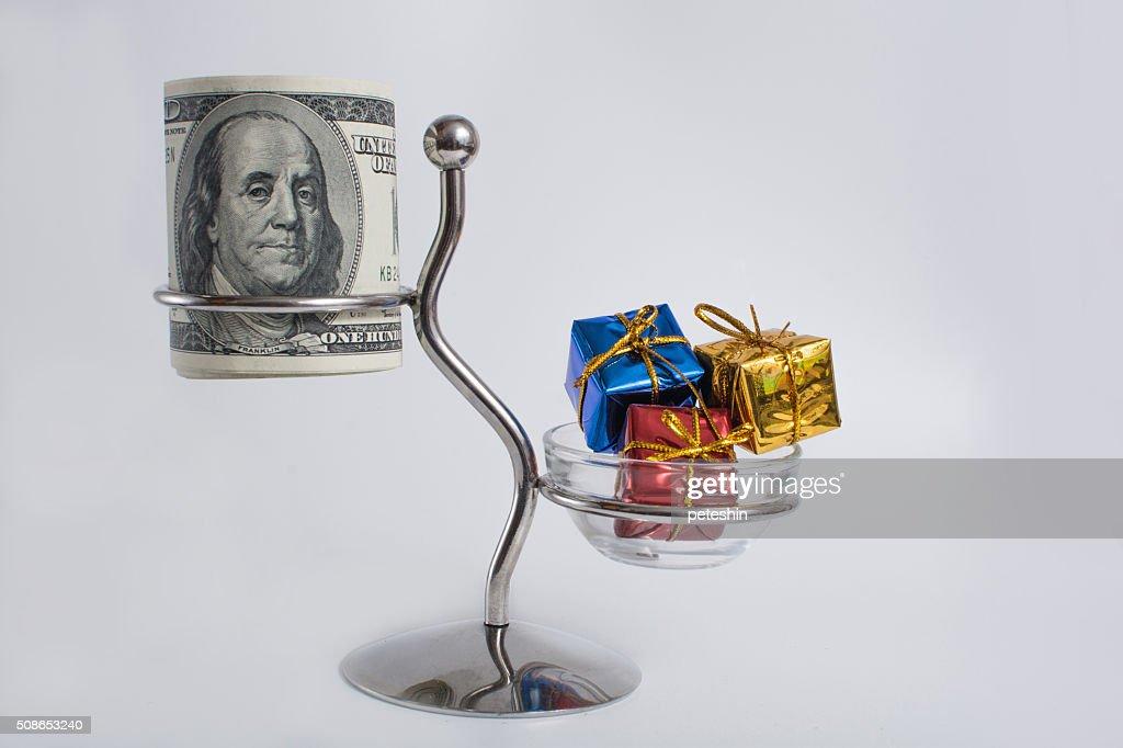 money and gift : Stock Photo