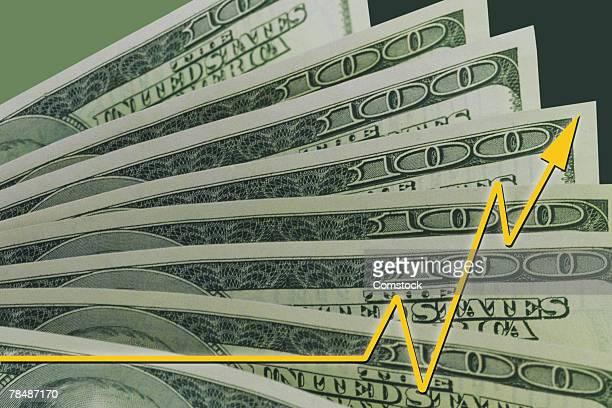 Money and rising arrow
