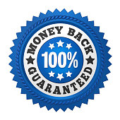 Money Back Guaranteed Label isolated on white background. 3D render