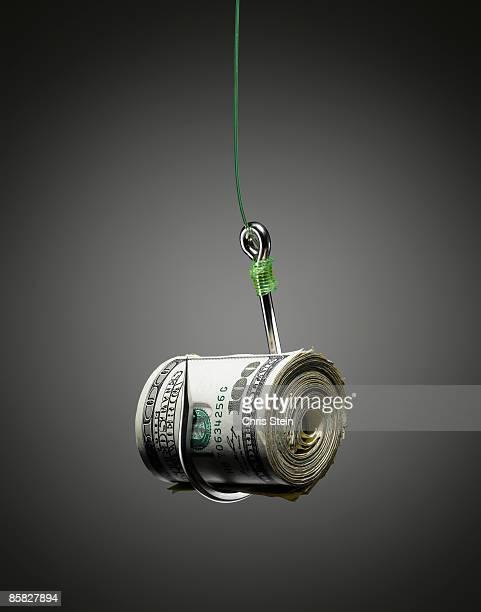 Money baited on a Hook.
