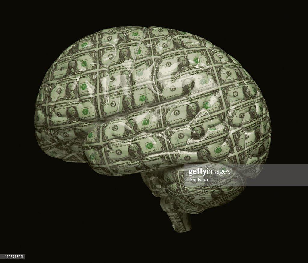 Money Brain : Stock Photo