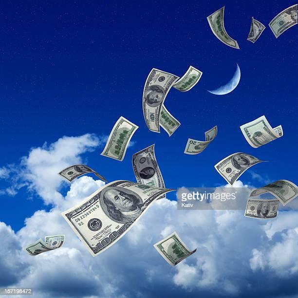 Geld fallen vom Himmel