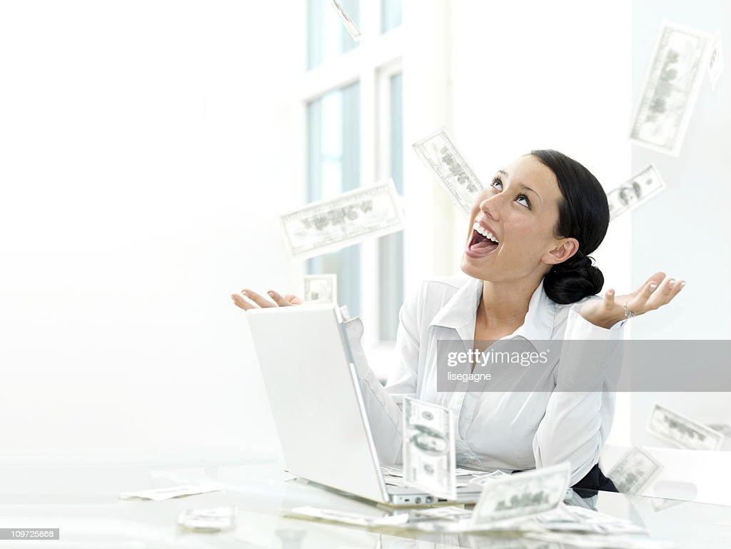 Money Falling : Stock Photo