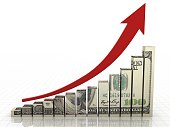 Money graph stock market finance growth chart