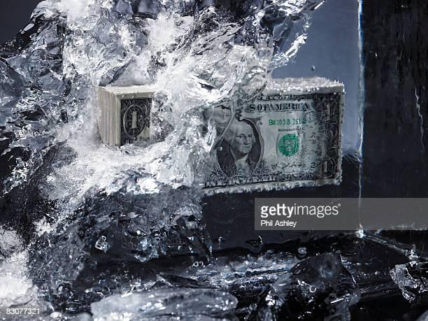 money in ice, ice smashes