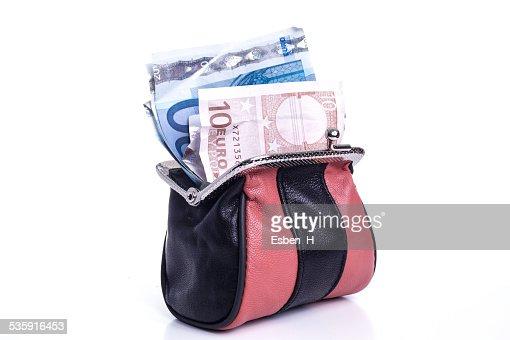 Bolso de dinero : Foto de stock