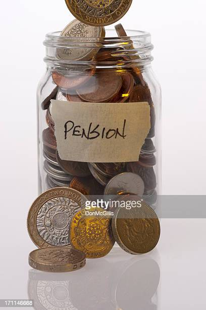 Geld Einmachglas British Pension