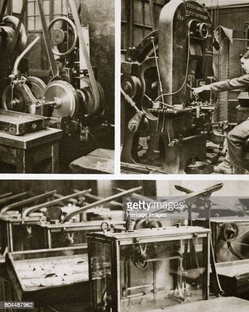Money making stamping and milling the disks and weighing the finished coins 20th century When the disks have been cut they are 'marked' that is the...