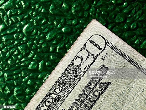 money on green