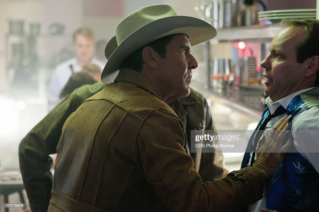 'Money Plays' -- Sheriff Ralph Lamb (Dennis Quaid) questions a casino worker while investigating the murder of a craps dealer, on VEGAS Tuesday, Oct. 2 (10:00-11:00 PM, ET/PT) on the CBS Television Network.
