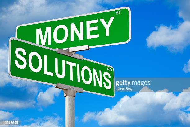 Money Solutions Street Sign
