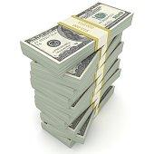 Money stack us dollar finance loan