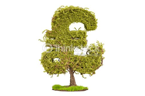 Money Tree In The Shape Of A Pound Sterling Symbol 3d Rendering