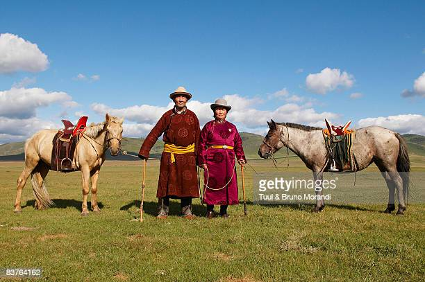 Mongolia. couple of nomads