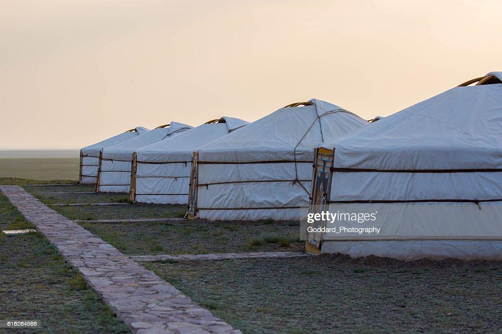 Mongolia: Ger Camp near Bayanzag : Stock Photo