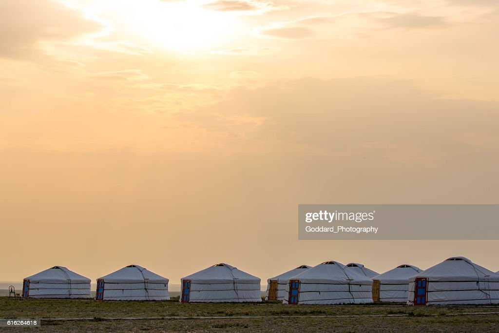 Mongolia: Ger Camp near Bayanzag : Stock Photo