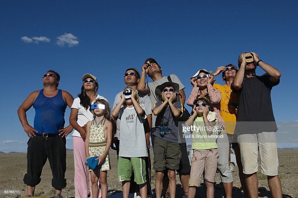 Mongolia. Khovd province. Total solar eclipse : Stock Photo