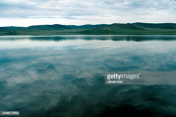 MNG Mongolia landscape with small mountain lake in Khoevsgoel province
