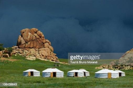 Mongolia, tourist camp at Batkhan national parc.