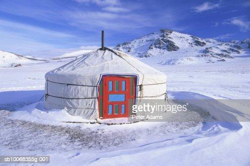 Mongolia, White Lake, Ger (Yurt)