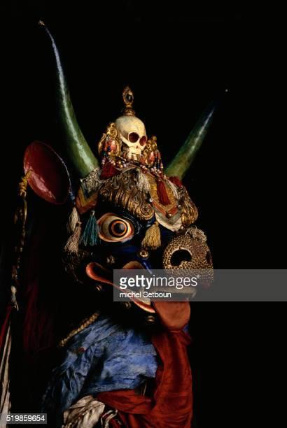 Mongolian Makhi Mask for Tsam Dances