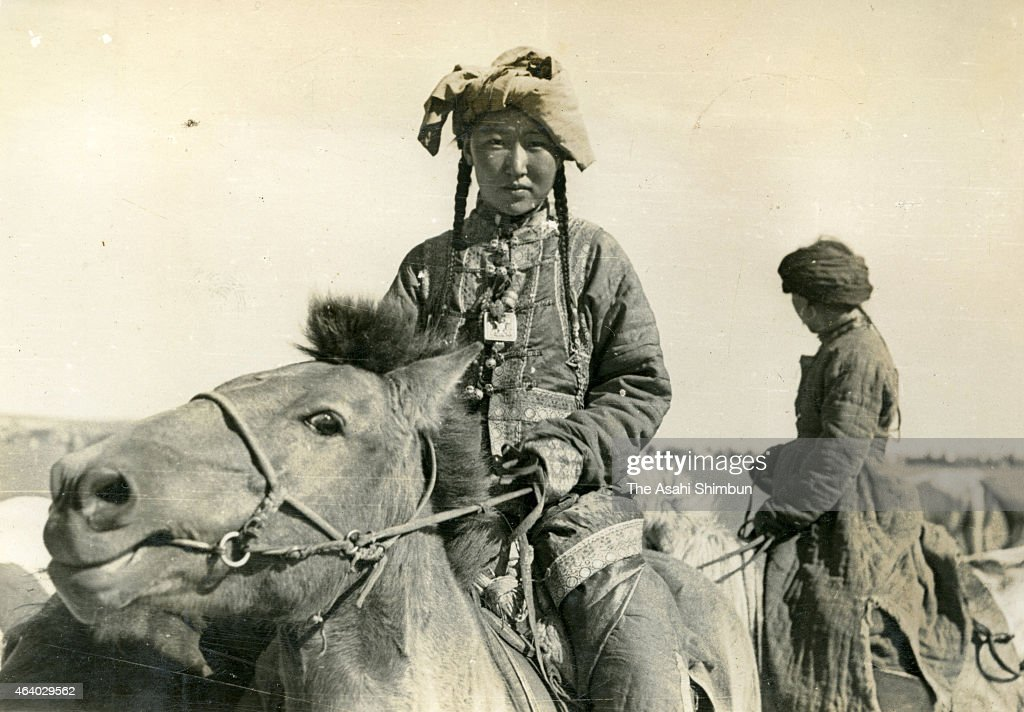 Hulun Buir China  City new picture : Mongolian nomad women circa September 1939 in Hulun Buir, China. The ...