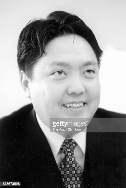 Mongolian Prime Minister Mendsaikhany Enkhsaikhan speaks during the Asahi Shimbun interview on February 23 1997 in Tokyo Japan