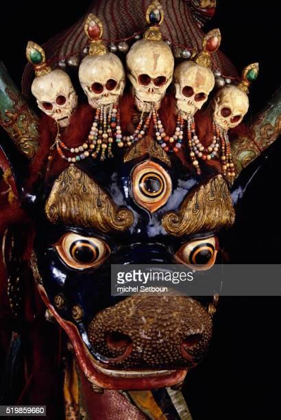 Mongolian Tshoijoo Mask for Tsam Dances